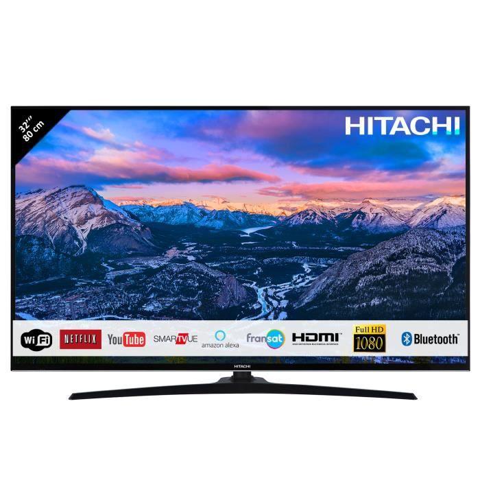 """Téléviseur LED HITACHI Téléviseur LED 32"""" 80,01cm Full HD avec Al"""