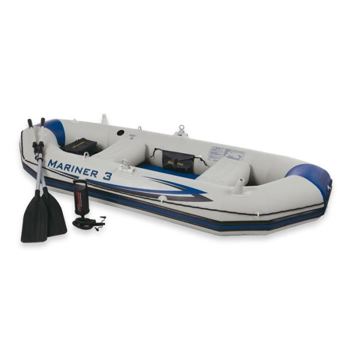 JEUX DE PISCINE Set bateau gonflable 3 places MARINER 3 INTEX