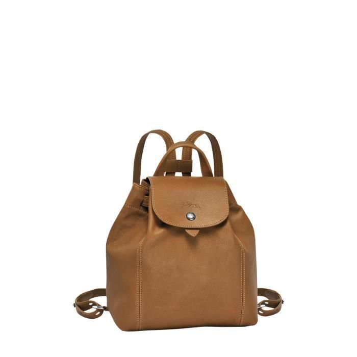 LONGCHAMP - sac à dos femme en cuir - NATUREL PLIAGE CUIR Marron ...