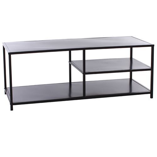 table pour tv shana m tal noir achat vente meuble. Black Bedroom Furniture Sets. Home Design Ideas