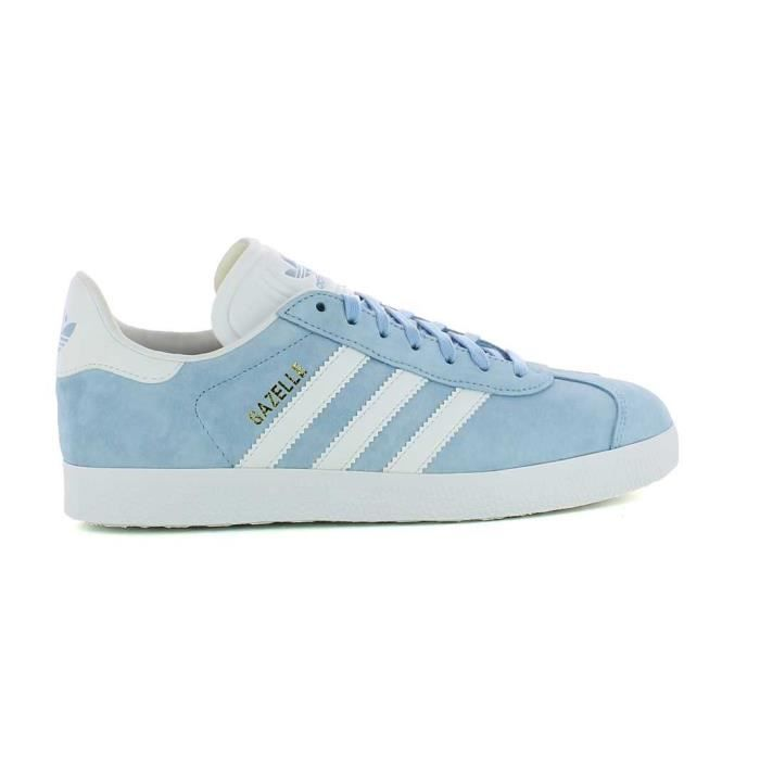 basket basse adidas gazelle originals bb5481 bleu ciel blanc nubuck bleu achat vente basket. Black Bedroom Furniture Sets. Home Design Ideas