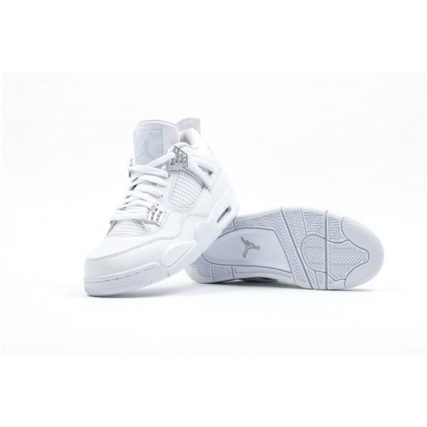 air jordan 4 retro pure money blanc