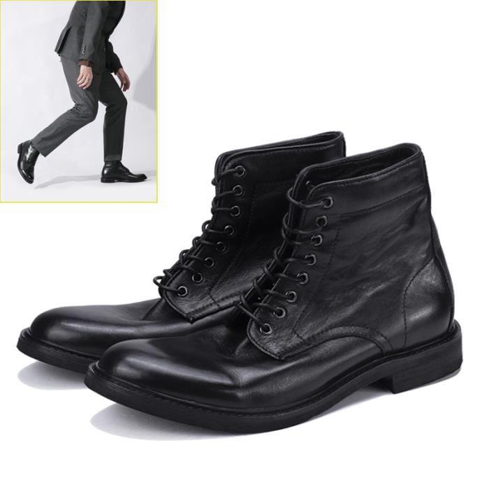 Boots Motardes Homme Souples Bottines Bottes MartinNoir Classiques 8nkNPOZ0Xw