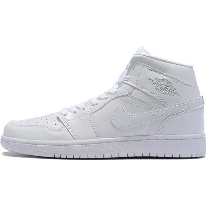 Air Jordan 1 Retro Chaussures de Basket pour Femme Homme blanche ...
