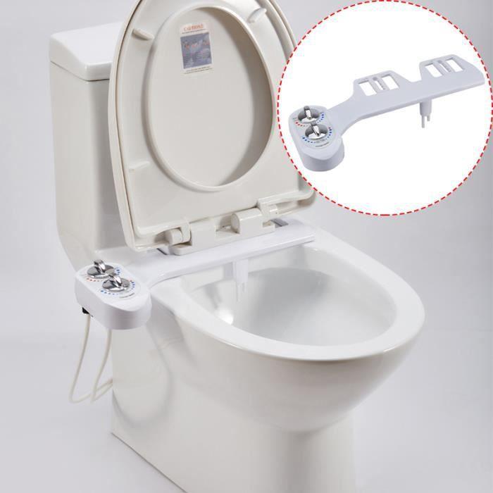 avec avec Jet deau Propre Buse Pression deau Ajustable Self Cleaning 42,4 x 25,3 x 8 cm Accessoires de Bidet Bidet Nettoyeur de Toilettes Assis