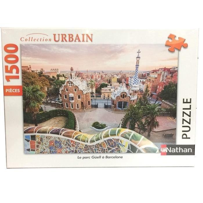 PUZZLE Puzzle Le parc Güell à Barcelone 1500 pcs