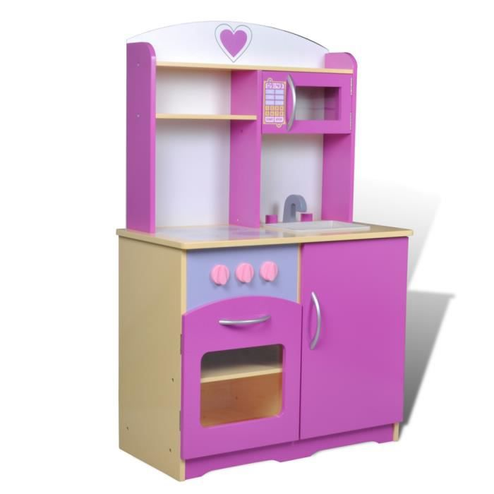 cuisini re cuisine jouet pour enfant en bois rose achat vente dinette cuisine cuisini re. Black Bedroom Furniture Sets. Home Design Ideas