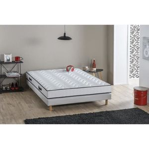ENSEMBLE LITERIE DEKO DREAM Ensemble matelas + sommier 90x190 cm -