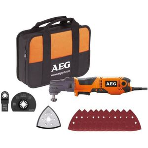 OUTIL MULTIFONCTIONS AEG POWERTOOLS Multitool 300 Watts + lames & acces