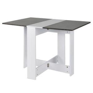 TABLE À MANGER SEULE LUXS Table de Salle de Manger Table Pilable de 4 P
