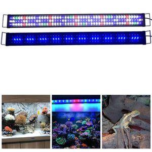 ÉCLAIRAGE 120cm - 150cm Rampe Aquarium LED Blanc Rouge Bleu
