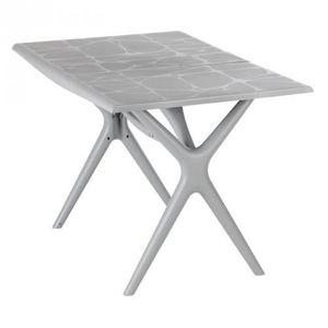 Table de Jardin Sigma Pliante Gris Souris 115 x 75 cm ...