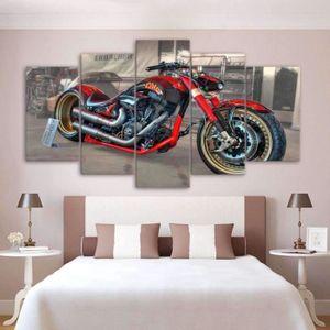 TABLEAU - TOILE Tableaux en canvas imprimé Moto custom120091879342