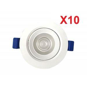 SPOTS - LIGNE DE SPOTS (Lot de 10)Downlight Spot LED encastrable intérieu