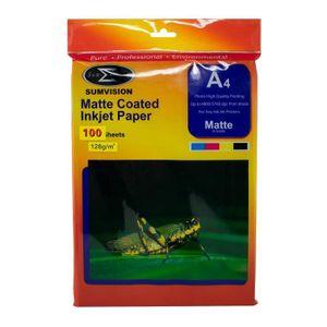 PAPIER PHOTO Papier A4 128gm (Matte Premium Photo Finition Prof