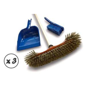 Ultra clean Balai Manche avec Pelle et balayette Bleu