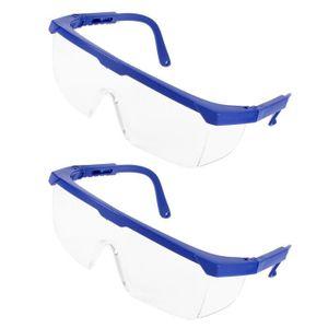 LUNETTE - VISIÈRE CHANTIER Bras Réglables Transparent Uni-lentille De protect