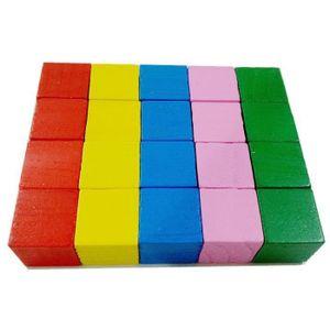 ASSEMBLAGE CONSTRUCTION Lot de 20 Pcs Cubes en Bois Jeu de Construction Jo