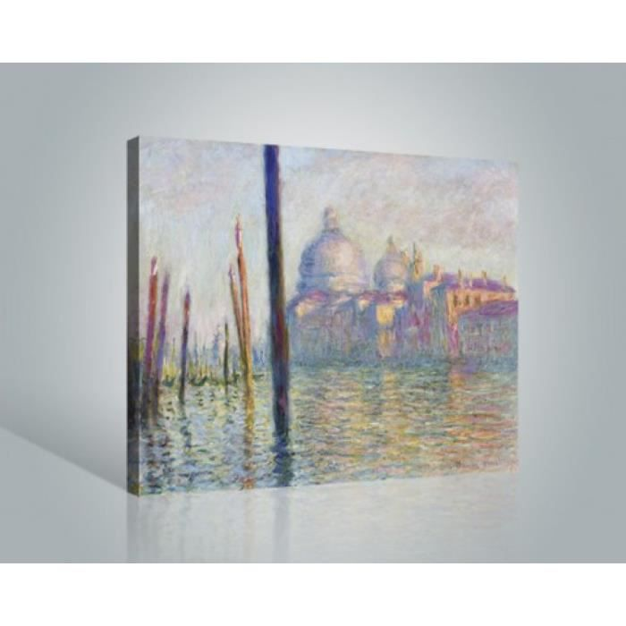 claude monet poster reproduction sur toile tendue sur ch ssis der canal grande 1904 40 x 50. Black Bedroom Furniture Sets. Home Design Ideas