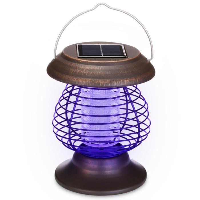 Lampes électriques portatives solaires de tueur de moustique de lampe de moustique