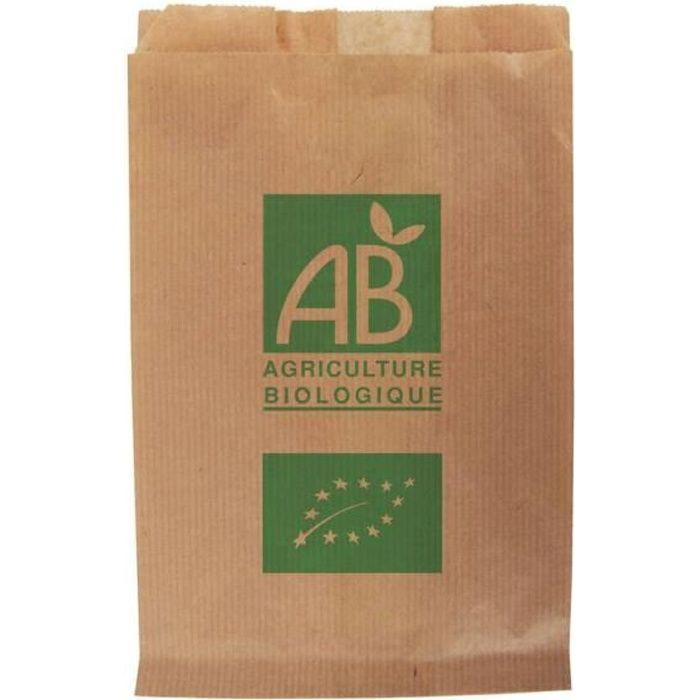 Sacs papier kraft fruits et légumes AB 3 kg / 23 + 8 x 34 cm X 1000UV