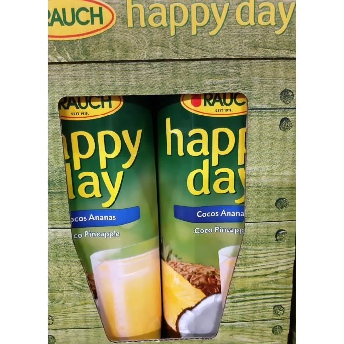 Rauch Happy Day noix de coco ananas jus de fruit 6 x 1l