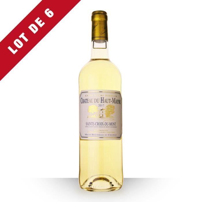Lot de 6 - Château du Haut-Mayne 2017 AOC Sainte-Croix-du-Mont - 6x75cl - Vin Blanc