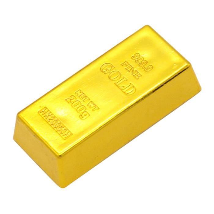 Faux créatif barre d'or lingot porte arrêt lourd brique presse papiers accessoires de film GF13192