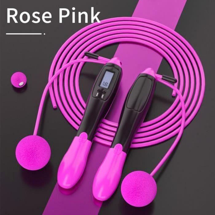 Accessoires Fitness - Musculation,TMT électronique vitesse corde à sauter sans fil cordes à sauter Crossfit réglable - Type Black