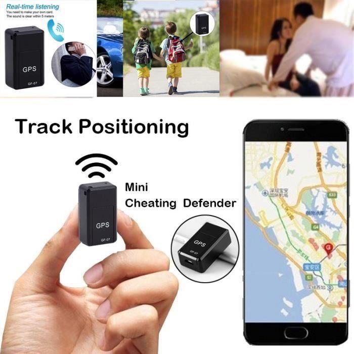 Tracker GPS pour véhicule Mini localisateur de véhicule portable GF07 Dispositif de suivi magnétique Localisateur GPRS Requête de su