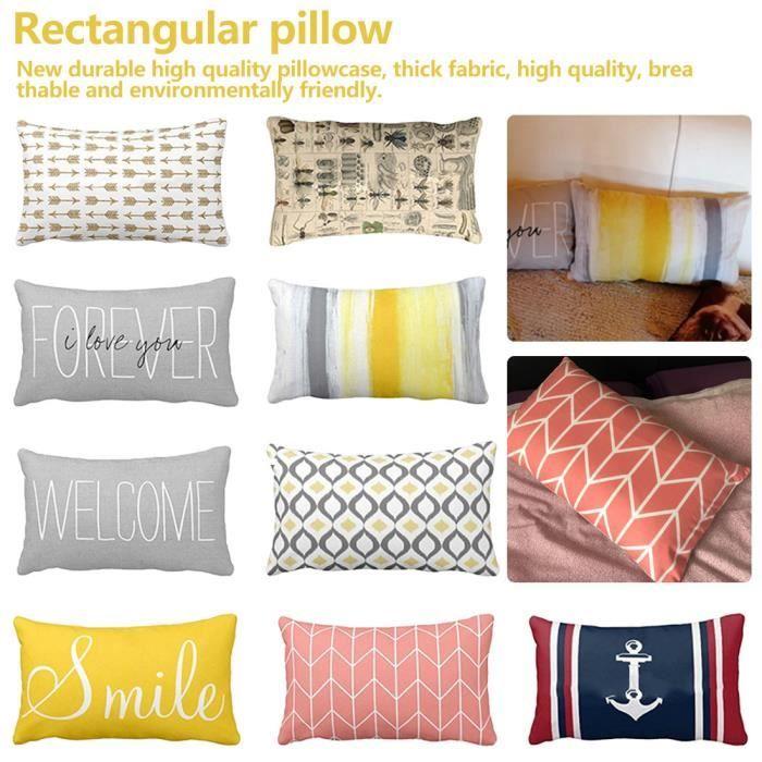 Taie d'oreiller Rectangle Design Housse d'oreiller 30X50 pour la maison sommeil confortable pur contrat et combinaison