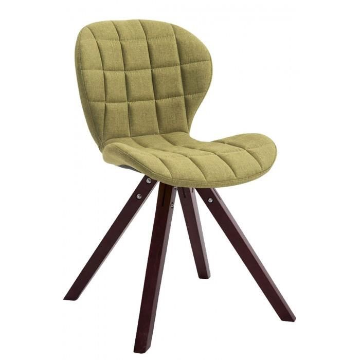 sublime Chaise visiteur reference Saint-Georges tissu carre cappuccino (chene) couleur vert
