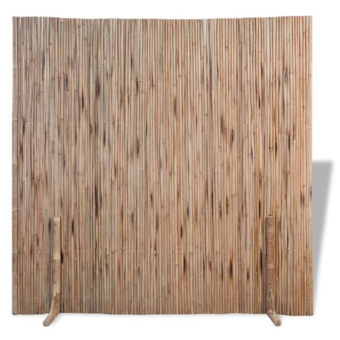 ♫8660 Clôture de jardin Brise vue Classique Bambou 180x170 cm MMCZ®