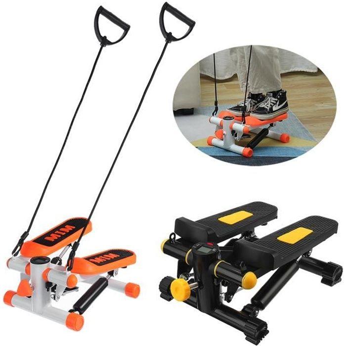 Mini Stepper Hydraulique Equipement d'exercice Multifonctionnel avec Cordon de Serrage noir + jaune