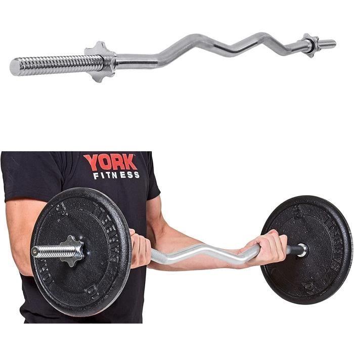 47--59- ez barre de curl,28mm,barres dhaltères avec 2 colliers,120cm-150cm poignées antidérapantes barre de musculation,4ft 5