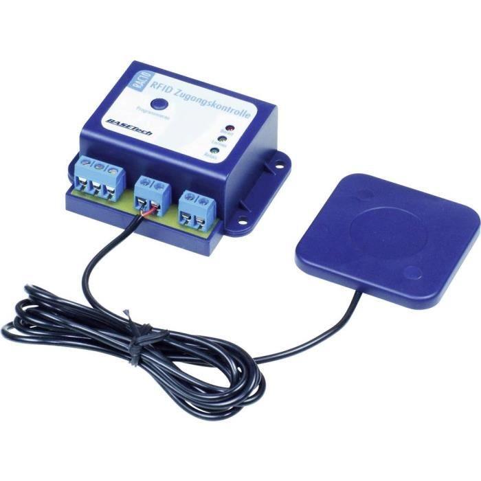 Contrôle daccès RFID Basetech BT-1839713 kit monté Nombre de transpondeur (max.): 50 12 V/DC, 9 V/AC, 12 V/AC 1 pc(s) - TRANSPONDEUR