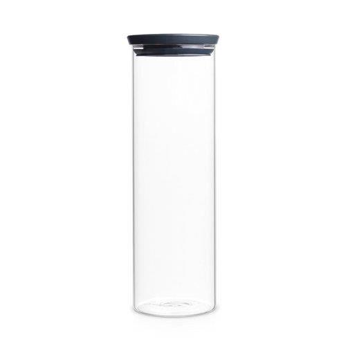 Brabantia Bocal empilable en verre, 1,9 L transparent, boîte de conservation des pâtes, spaghetti