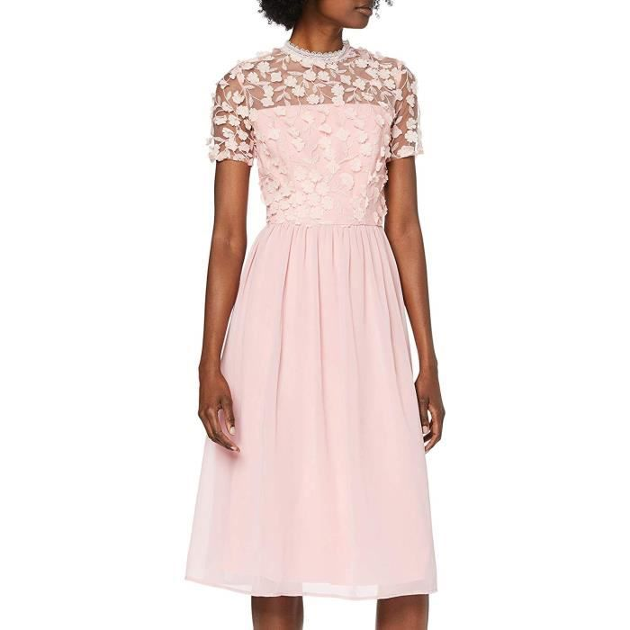 Chi Chi London Scorcha Robe de soirée, Rose (Pink Br), 42 (Taille Fabricant: 14) Femme - 52378