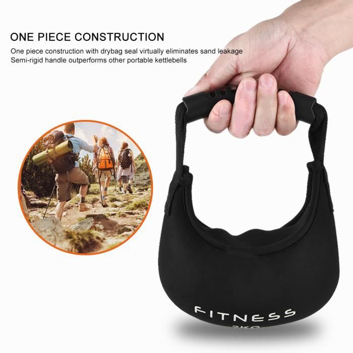 Portable Kettlebell Exercice Poids Fitness Home Gym Workout Musculation Kettlebell (2kg)-ROS