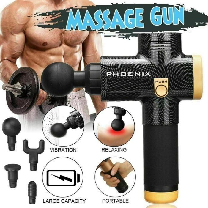 Phoenix A2 Massage Muscle Relaxation pistolet de Massage à la maison charge profonde dynamique thérapie vibrateur - Noir
