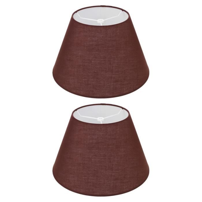 2pcs Tissu Art AMBLASTHADE SIMPLE SUPÉRIEURE Couvercle de lampe élégante pour la abat-jour vendu seul luminaire d'interieur