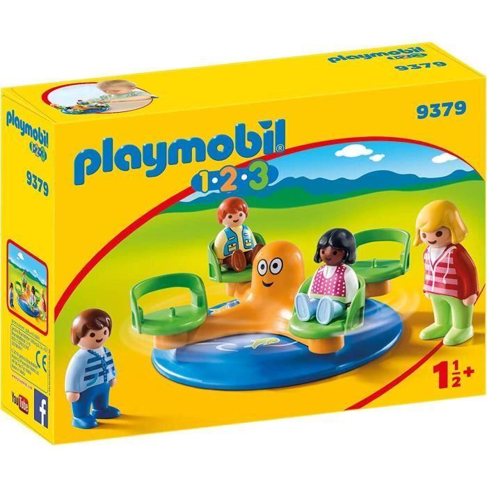 PLAYMOBIL 9379 - PLAYMOBIL 1.2.3 - Enfants et manège