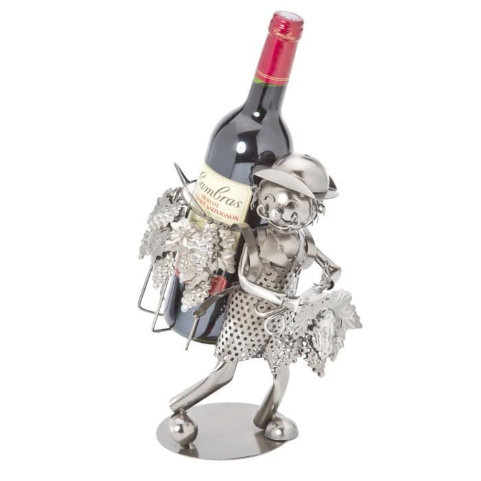 Porte bouteille Métal vendangeur