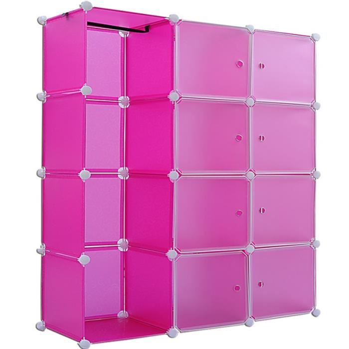 etag res armoire penderie rose rangement plastique 8. Black Bedroom Furniture Sets. Home Design Ideas