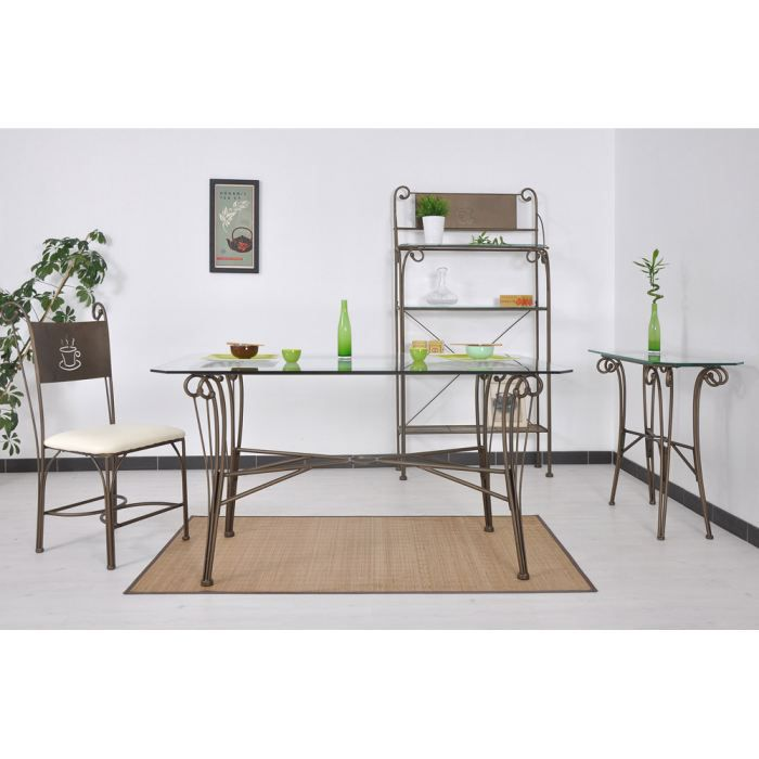 table fer forge achat vente table fer forge pas cher cdiscount. Black Bedroom Furniture Sets. Home Design Ideas