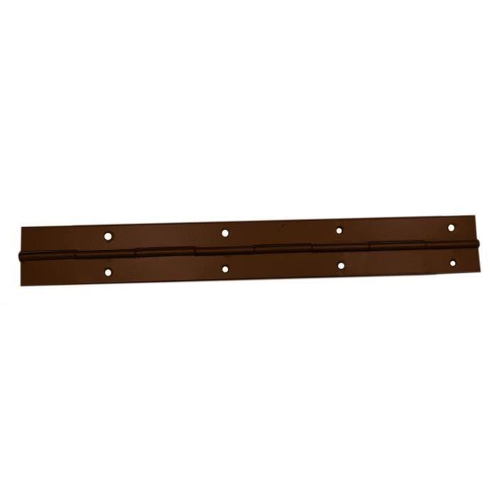 CHARNIÈRE - PAUMELLE Charnière 10x 240mm métal piano marron