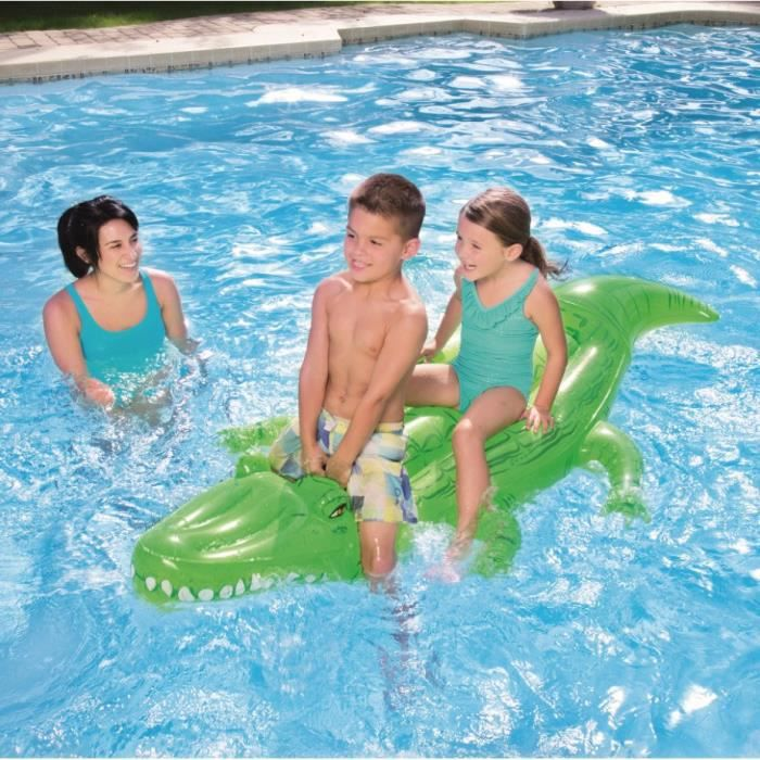 Bestway jeu piscine crocodile gonflable chevaucher pour for Rustine piscine gonflable