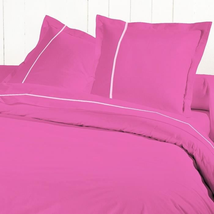 david olivier drap housse 180x200 percale fuchsi achat. Black Bedroom Furniture Sets. Home Design Ideas