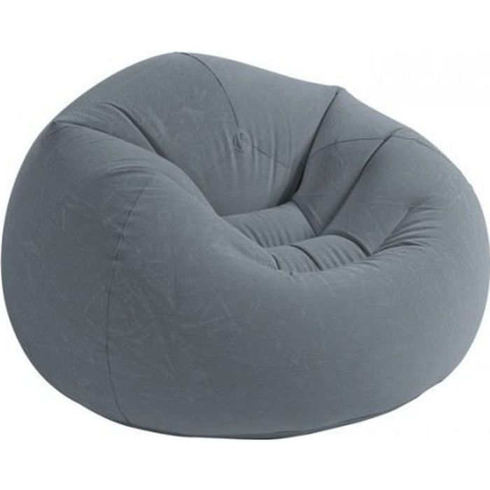 pouf gonflable beanless intex achat vente pouf poire velours cdiscount. Black Bedroom Furniture Sets. Home Design Ideas