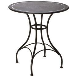 Table fer forge ronde achat vente table manger table for Table ronde verre fer forge